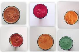 Juices and Smoothie Recipes Green Pink Drink Fitness Collage