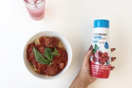 SodaStream Cocktail non-alcoholic recipes holiday party meatballs spaghetti miss fresh montreal