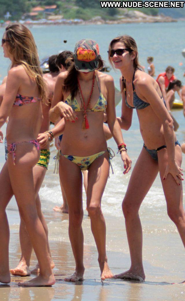 Alessandra Ambrosio Celebrity Brazil Latina Bikini Posing Hot Nude