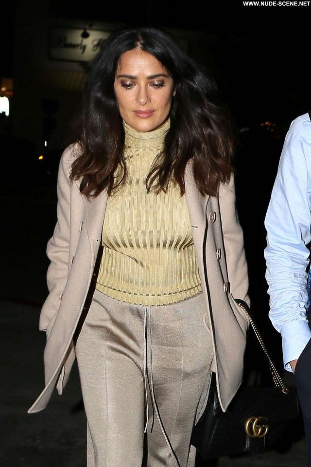 Salma Hayek No Source California Celebrity Happy Posing Hot Beautiful