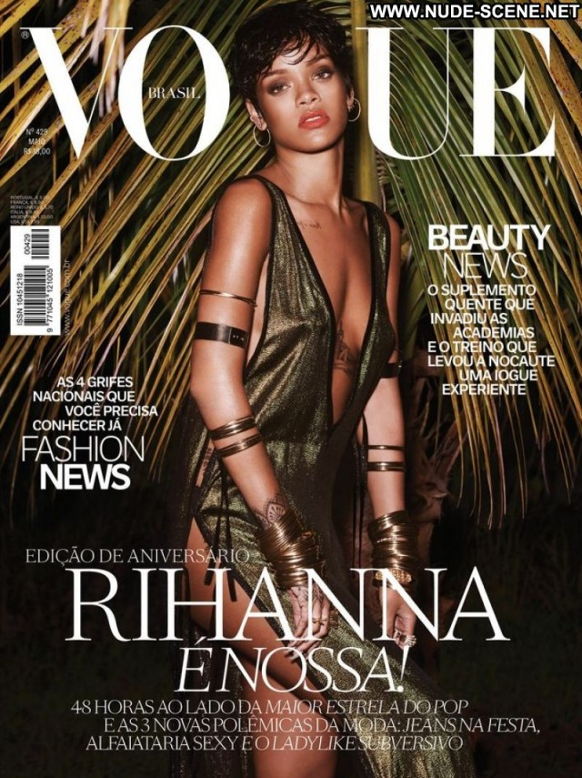 Rihanna Magazine Celebrity Gorgeous Topless Retro Singer Knickers