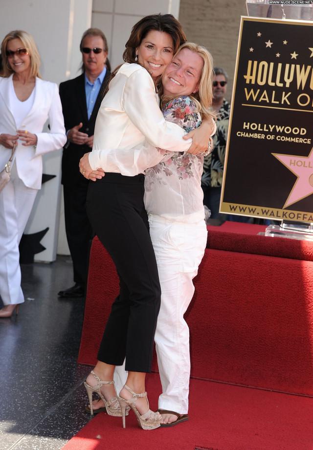 Shania Twain Hollywood Walk Of Fame Beautiful Posing Hot High