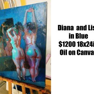 Alex Castaneda — Diana and Lisa in Blue
