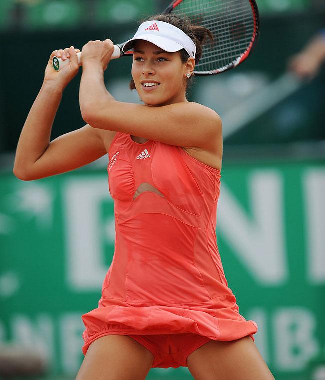 tennis star ana ivanovic cameltoe upskirt
