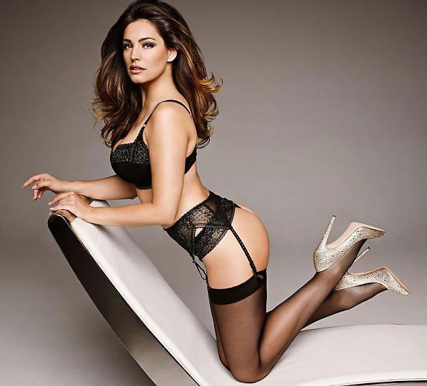sexy kelly brook in stockings and suspenders