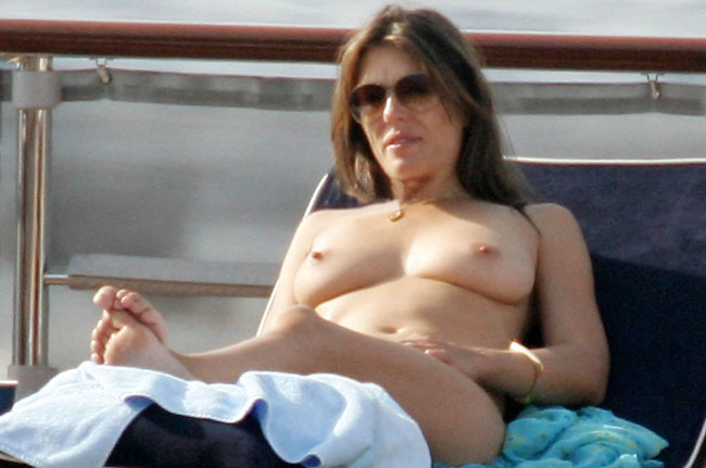 british celeb beach nudity liz hurley