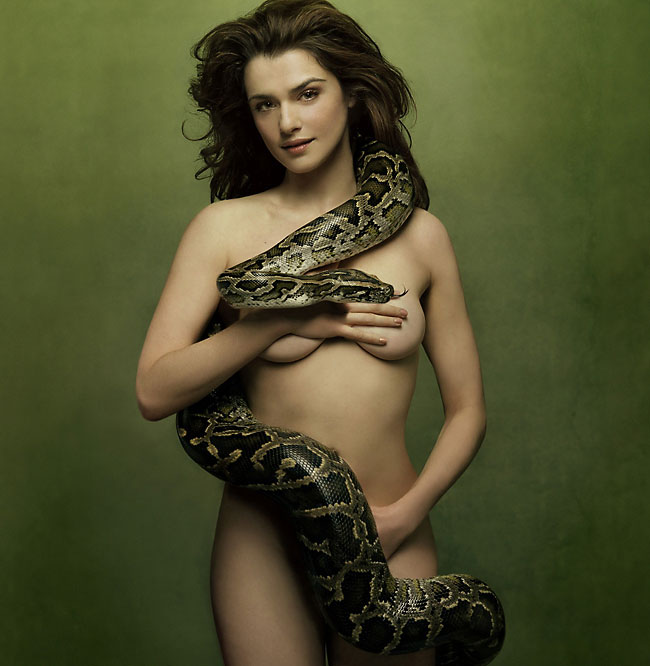 rachel weisz nude with snake
