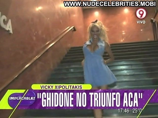 Vicky Xipolitakis Implacables Stairs Sexy Dress Big Ass Doll