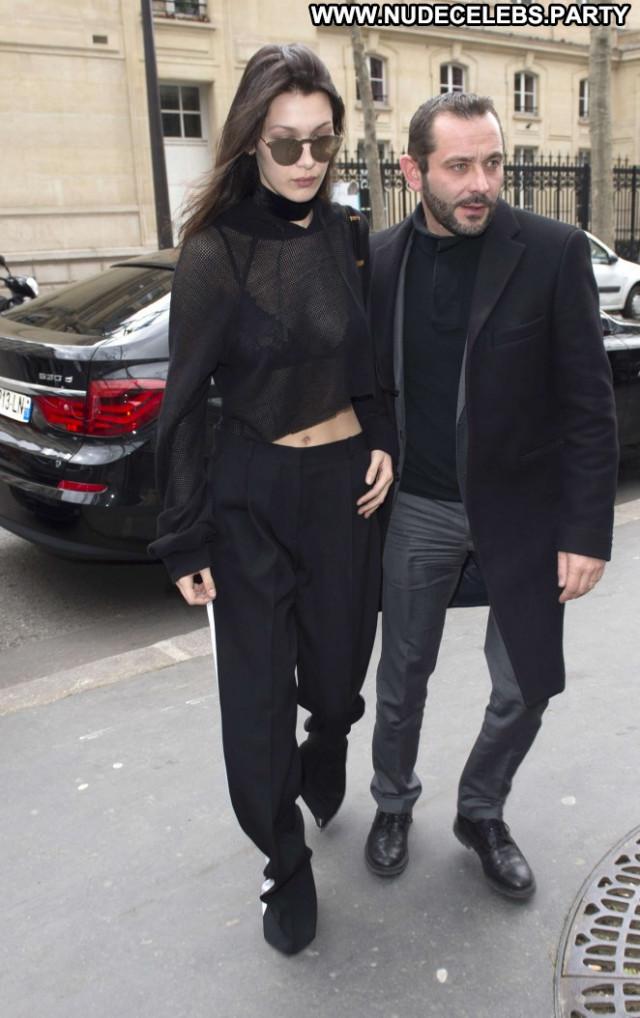 Bella Hadid Hot Paparazzi Posing Hot Hotel Paris Babe Celebrity
