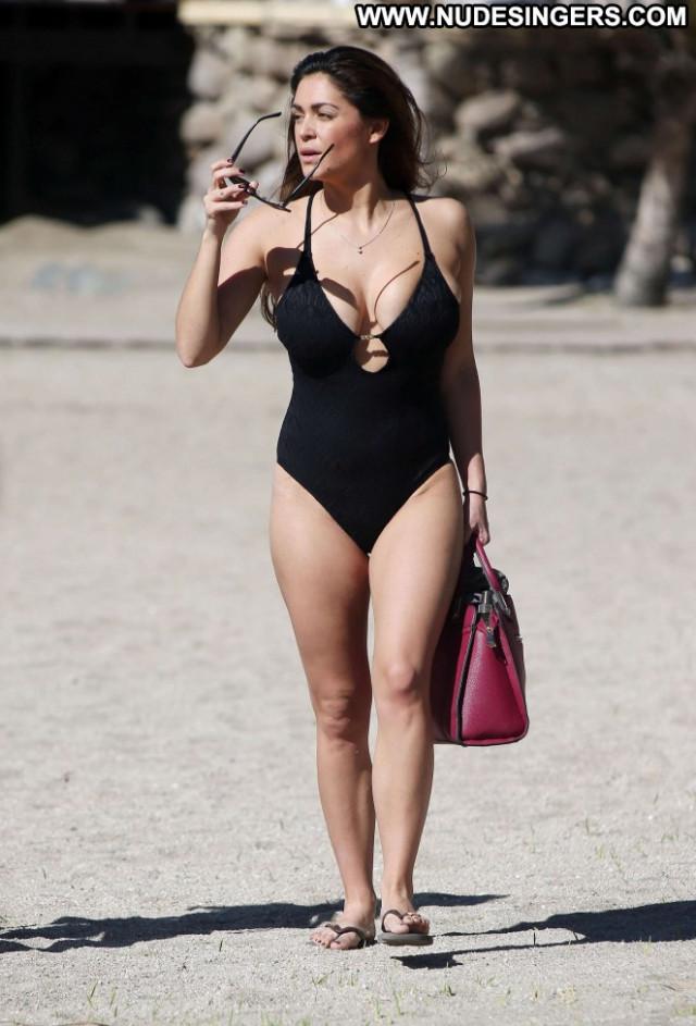 Casey Batchelor Celebrity Babe Candids Swimsuit Black Paparazzi