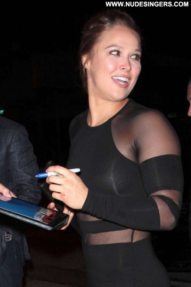 Ronda Rousey West Hollywood Posing Hot Beautiful Paparazzi Hollywood