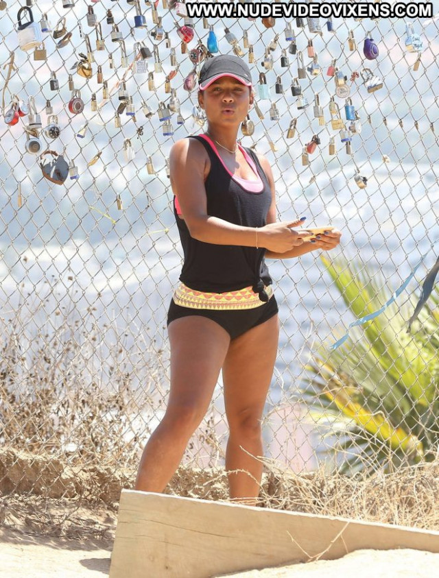 Christina Milian Los Angeles Posing Hot Paparazzi Los Angeles
