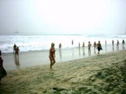 Nudists on Canarian beach