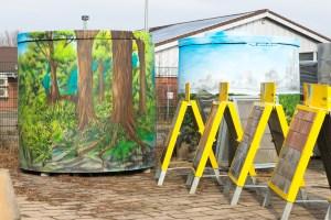 Graffiti Kunst Menksche Betonwerke Monheim