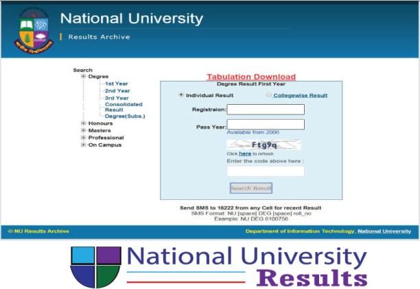 National University of Bangladesh result
