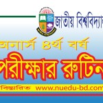 Honours 4th year examination Routine 2020