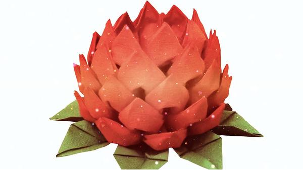 """Designen """"Lotus"""" från pappersservetter Eclipse någon napansofficer"""