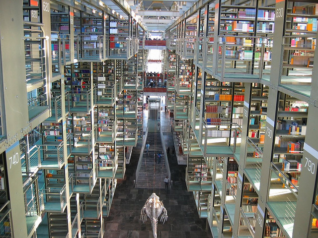 Biblioteca José Vasconcelos / Vasconcelos Library Pasillo principal de la Biblioteca José Vasconcelos en la Ciudad de México.   Main corridor at Jose Vasconcelos Library in Mexico City.   www.bibliotecavasconcelos.gob.mx/html