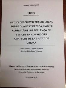 Estudio descriptivo transversal sobre la calidad de vida, hábitos alimenticios y prevalencia de lesiones en corredores amateurs de la ciudad de Girona