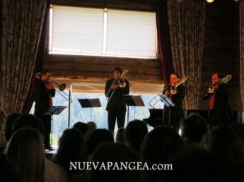 Cuarteto de trombones Viento Sur, en el hotel Llao Llao