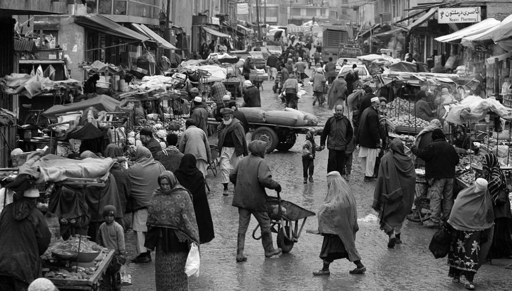 Un mercado en Afganistán
