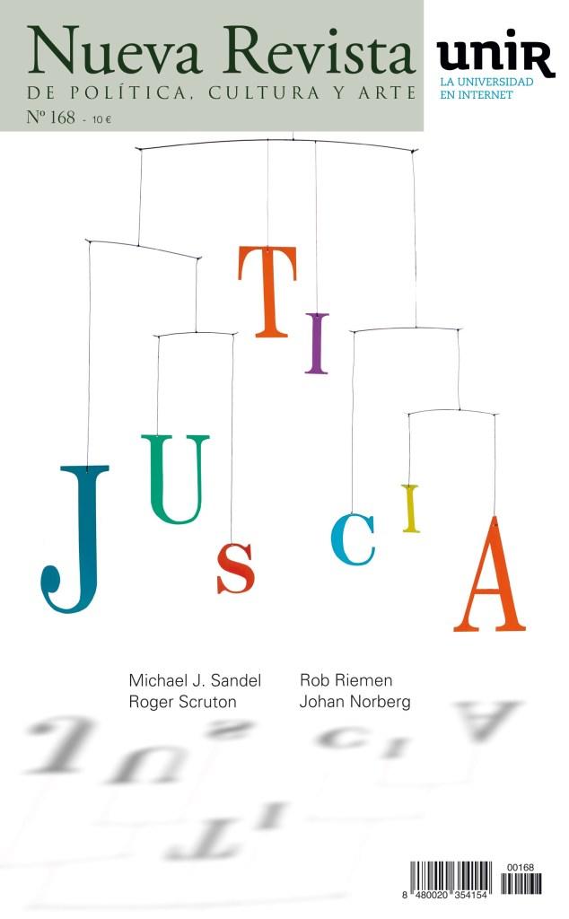 Portada del número 168 de Nueva Revista titulada Justicia