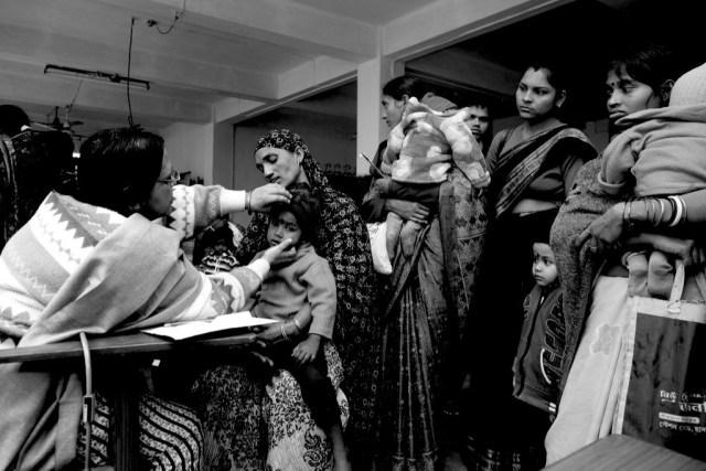 En un ambulatorio de Calcuta (India)