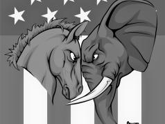 Símbolos de Demócratas y Republicanos en EEUU. © Shutterstock