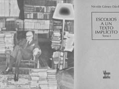 Gómez Dávila y uno de sus libro de escolios © Visiers