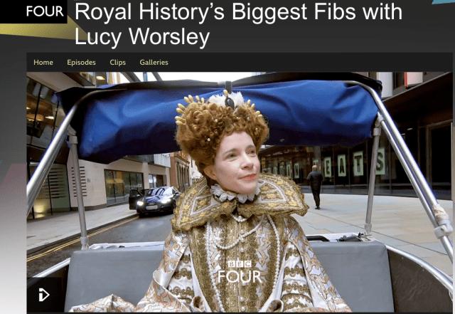 Lucy Worsley. BBC 4. La Gran Armada. La Armada Invencible. Royal History's Biggest Fibs