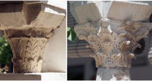 Capiteles romanos, galerías oeste y norte.