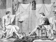 Aristóteles y su discípulo Alejandro. © Shutterstock