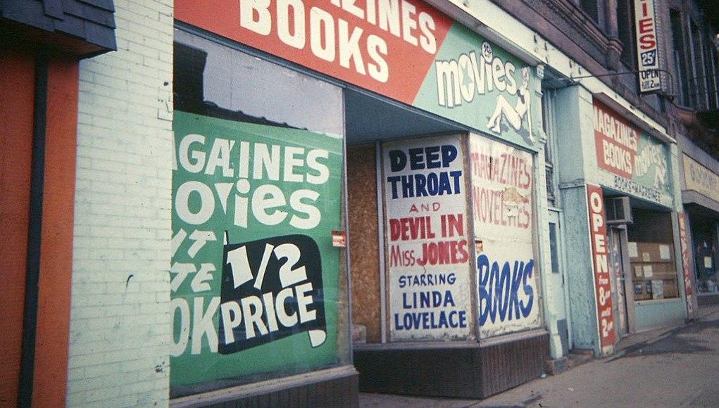 Venta de material pornográfico (Minnesota, 1978). Foto: © Wikimedia Commons