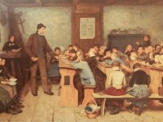 La escuela del pueblo, de Albert Ancla © Wikipedia