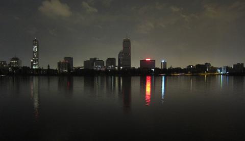 Imagen de los apagones parciales de Boston de 2012