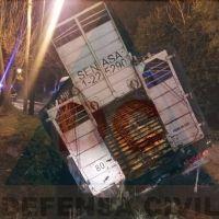 Terrible: volcó un camión con ganado y vecinos carnearon una vaca en plena calle