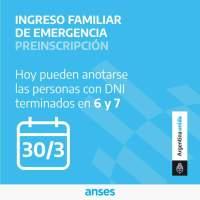 Anses comunicó que hoy empieza la preinscripción para cobrar el ingreso de emergencia