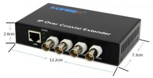 10100M 4 BNC port 1 RJ45 ports Ether over Coaxial Converter 2km