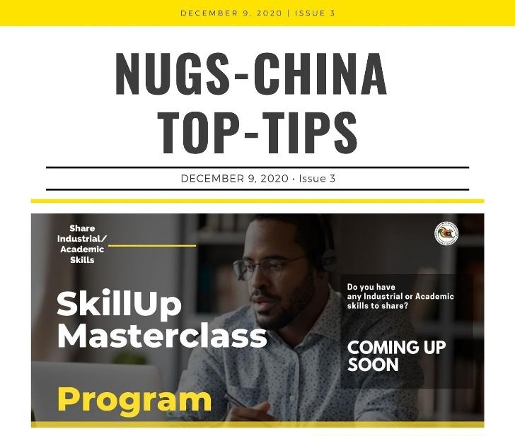 NUGS-China Top Tips 3