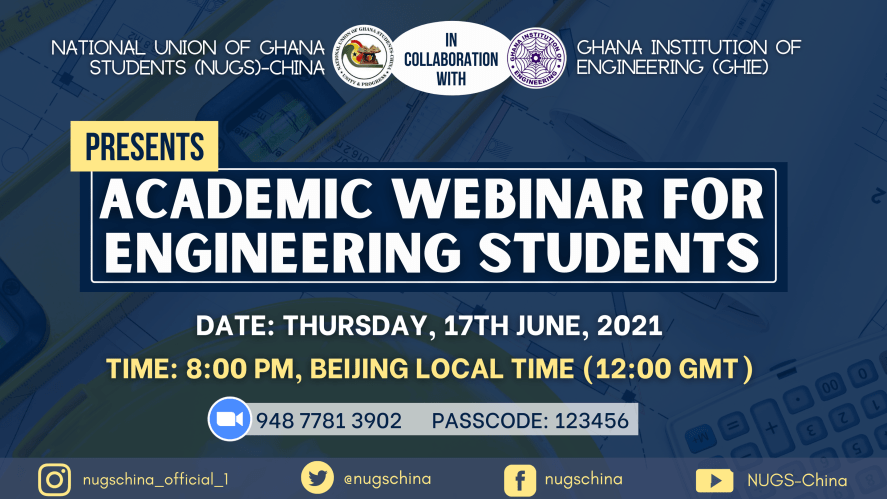 NUGS-CHINA in collaboration with GHIE Presents Academic Webinar For Engineering Students.