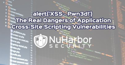 Web Application Security Testing and XSS | NuHarbor Security