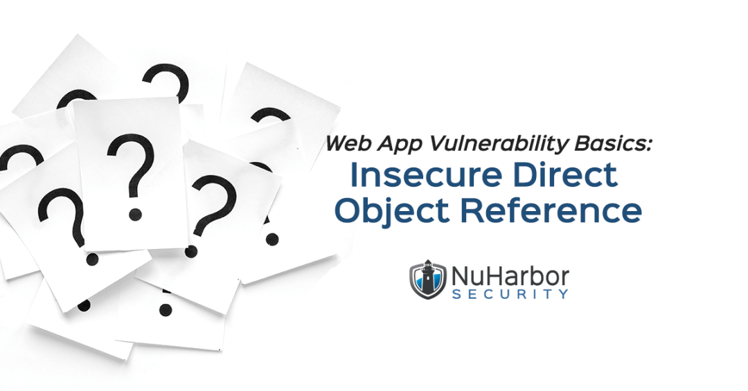 Web App Vulnerability Insecure Direct Object Reference IDOR