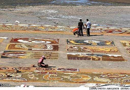 Самый большой ковер из песка (16 фото)