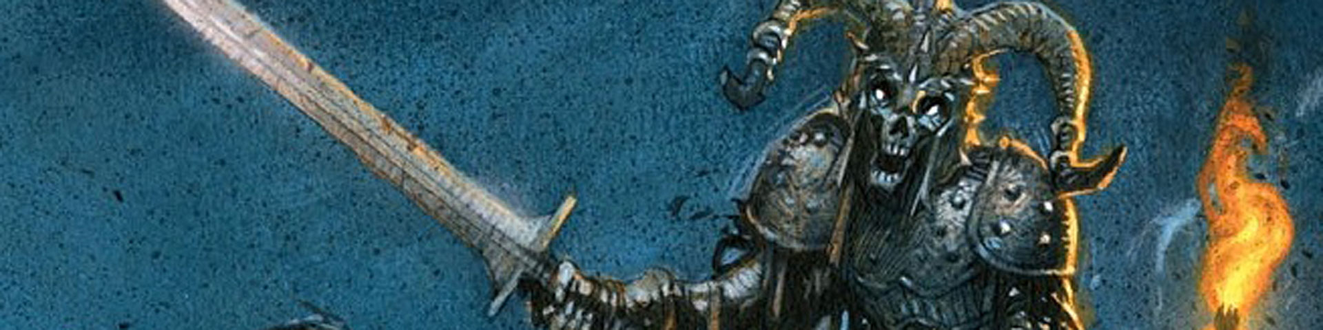 A skeletal warrior.