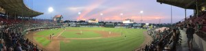 Historic McCoy field, home of the Pawtucket Red Sox.