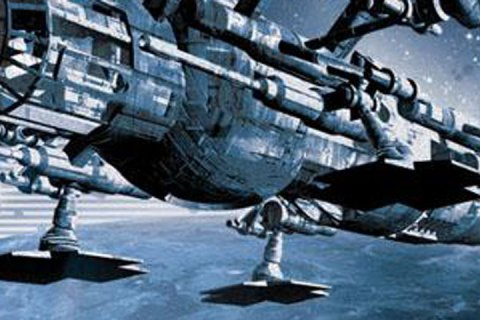 A drop ship from the cover art for The Lost Fleet: Victorious