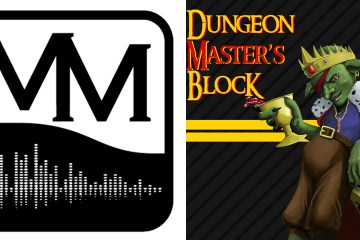 Art representing Gnomecast, Misdirected Mark, Dungeon Master's Block, and Ken and Robin Talk About Stuff