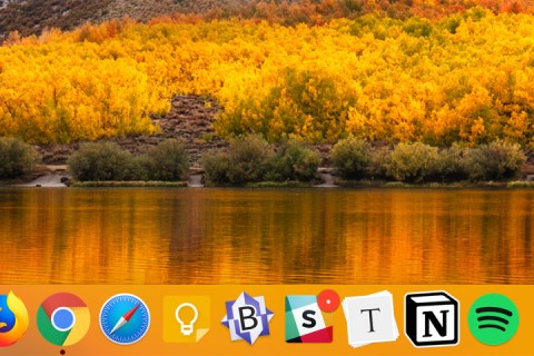 "A screenshot of my macOS desktop. The default ""high sierra"" desktop image appears in the background."