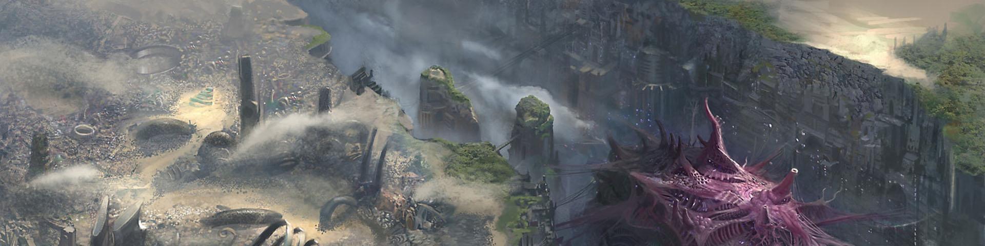 A far-future landscape.