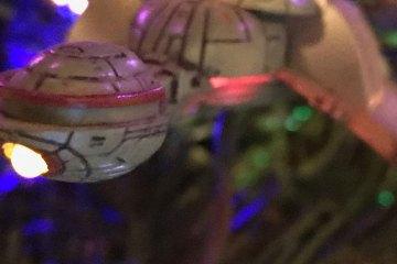 A close-up view of a Klingon Bird-of-Prey